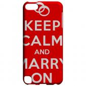 Geeks Designer Line (GDL) Slim Hard Case for Apple iPod Touch 5 - Red Marry On