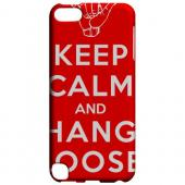 Geeks Designer Line (GDL) Slim Hard Case for Apple iPod Touch 5 - Red Hang Loose