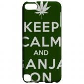 Geeks Designer Line (GDL) Slim Hard Case for Apple iPod Touch 5 - Green Ganja On