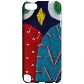 Geeks Designer Line (GDL) Slim Hard Case for Apple iPod Touch 5 - Dark Blue/ Red Owl