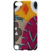 Geeks Designer Line (GDL) Slim Hard Case for Apple iPod Touch 5 - Yellow/ Purple Owl