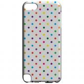 Geeks Designer Line (GDL) Slim Hard Case for Apple iPod Touch 5 - Small & Rainbow on White