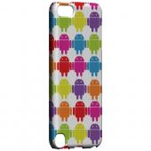Geeks Designer Line (GDL) Slim Hard Case for Apple iPod Touch 5 - Rainbow Robot Army Design