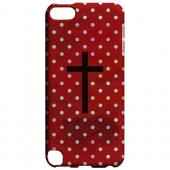 Geeks Designer Line (GDL) Slim Hard Case for Apple iPod Touch 5 - Stained Cross on Red