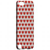 Geeks Designer Line (GDL) Slim Hard Case for Apple iPod Touch 5 - Red Hearts on White