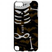 Geeks Designer Line (GDL) Slim Hard Case for Apple iPod Touch 5 - Dancing Skeleton on Witch Hat/Broom/Bat