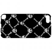 Geeks Designer Line (GDL) Slim Hard Case for Apple iPod Touch 5 - White Skull & Crossbones on Black
