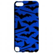 Geeks Designer Line (GDL) Slim Hard Case for Apple iPod Touch 5 - Witch Hat/Broom/Bat on Blue