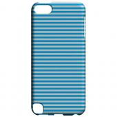 Geeks Designer Line (GDL) Slim Hard Case for Apple iPod Touch 5 - Blue/ White Stripes