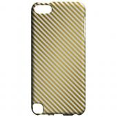 Geeks Designer Line (GDL) Slim Hard Case for Apple iPod Touch 5 - Thin Golden Diagonal