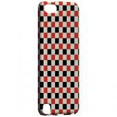 Geeks Designer Line (GDL) Slim Hard Case for Apple iPod Touch 5 - Red/ Black on Cream