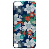 Geeks Designer Line (GDL) Slim Hard Case for Apple iPod Touch 5 - Birds & Flowers on Blue/ Red