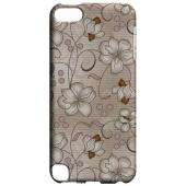 Geeks Designer Line (GDL) Slim Hard Case for Apple iPod Touch 5 - Floral Stripes Linen