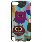 Geeks Designer Line (GDL) Slim Hard Case for Apple iPod Touch 5 - Colorful Owls on Blue/Green Stripes