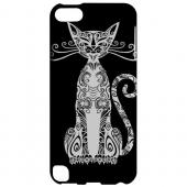 Geeks Designer Line (GDL) Slim Hard Case for Apple iPod Touch 5 - Kitty Nouveau on Black