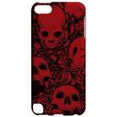 Geeks Designer Line (GDL) Slim Hard Case for Apple iPod Touch 5 - Skulls Rose Red/ Black