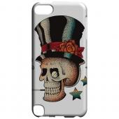 Geeks Designer Line (GDL) Slim Hard Case for Apple iPod Touch 5 - Smoking Skull on White