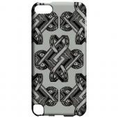 Geeks Designer Line (GDL) Slim Hard Case for Apple iPod Touch 5 - Tribal Art on Gray