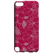Geeks Designer Line (GDL) Slim Hard Case for Apple iPod Touch 5 - White on Pink Orchid Lines