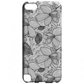 Geeks Designer Line (GDL) Slim Hard Case for Apple iPod Touch 5 - Black on White Orchid Lines