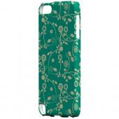 Geeks Designer Line (GDL) Slim Hard Case for Apple iPod Touch 5 - Floral 2 Emerald