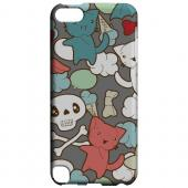 Geeks Designer Line (GDL) Slim Hard Case for Apple iPod Touch 5 - Hello Neko Skull