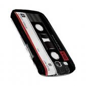 Geeks Designer Line (GDL) Retro Series Samsung Galaxy S3 Matte Hard Back Cover - Black Acoustic Cassette