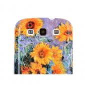 Geeks Designer Line (GDL) Samsung Galaxy S3 Claude Monet Matte Hard Back Cover - Bouquet of Sunflowers