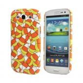 Geeks Designer Line (GDL) Samsung Galaxy S3 Matte Hard Back Cover - Candy Corn Galore