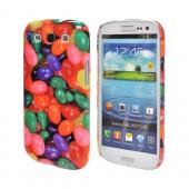 Geeks Designer Line (GDL) Samsung Galaxy S3 Matte Hard Back Cover - Assorted Jelly Beans