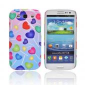 Geeks Designer Line (GDL) Samsung Galaxy S3 Matte Hard Back Cover - Assorted Heart Lollipops