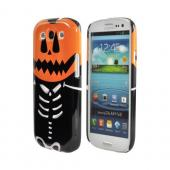 Geeks Designer Line (GDL) Samsung Galaxy S3 Slim Hard Back Cover - Skeleton w/ Jack o' Lantern Head