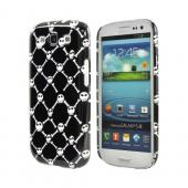 Geeks Designer Line (GDL) Samsung Galaxy S3 Matte Hard Back Cover - White Skull & Crossbones on Black