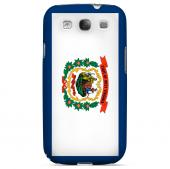 West Virginia - Geeks Designer Line Flag Series Matte Back Case for Samsung Galaxy S3