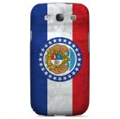 Grunge Missouri - Geeks Designer Line Flag Series Matte Case for Samsung Galaxy S3