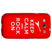 Red Rock On Geeks Designer Line Keep Calm Series Slim Hard Case for Samsung Galaxy S3
