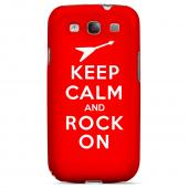 Red Rock On Geeks Designer Line Keep Calm Series Matte Hard Case for Samsung Galaxy S3