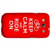 Red Ride On Geeks Designer Line Keep Calm Series Slim Hard Case for Samsung Galaxy S3