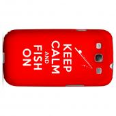 Red Fish On Geeks Designer Line Keep Calm Series Matte Hard Case for Samsung Galaxy S3