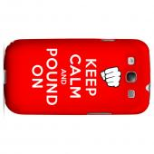 Red Pound On Geeks Designer Line Keep Calm Series Slim Hard Case for Samsung Galaxy S3
