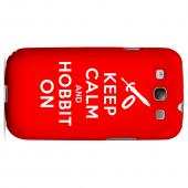Red Hobbit On Geeks Designer Line Keep Calm Series Slim Hard Case for Samsung Galaxy S3
