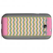 Green/ Yellow Dots w/ Pink & Gray Geeks Designer Line Zig Zag Series Slim Hard Case for Samsung Galaxy S3