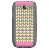 Green/ Yellow Dots w/ Pink & Gray Geeks Designer Line Zig Zag Series Matte Hard Case for Samsung Galaxy S3
