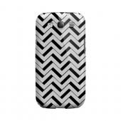 Black/ White 3D Geeks Designer Line Zig Zag Series Matte Hard Case for Samsung Galaxy S3