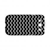 White on Black Geeks Designer Line Zig Zag Series Matte Hard Case for Samsung Galaxy S3