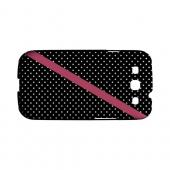 Pink Diagonal Stripe Geeks Designer Line Polka Dot Series Slim Hard Case for Samsung Galaxy S3