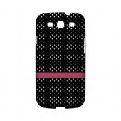 Pink Horizontal Stripe Geeks Designer Line Polka Dot Series Matte Hard Case for Samsung Galaxy S3