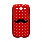 Stache on Red Geeks Designer Line Polka Dot Series Matte Hard Case for Samsung Galaxy S3