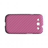 Thin Hot Pink Diagonal - Geeks Designer Line Stripe Series Hard Case for Samsung Galaxy S3