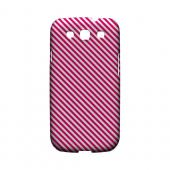 Thin Hot Pink Diagonal - Geeks Designer Line Stripe Series Matte Case for Samsung Galaxy S3